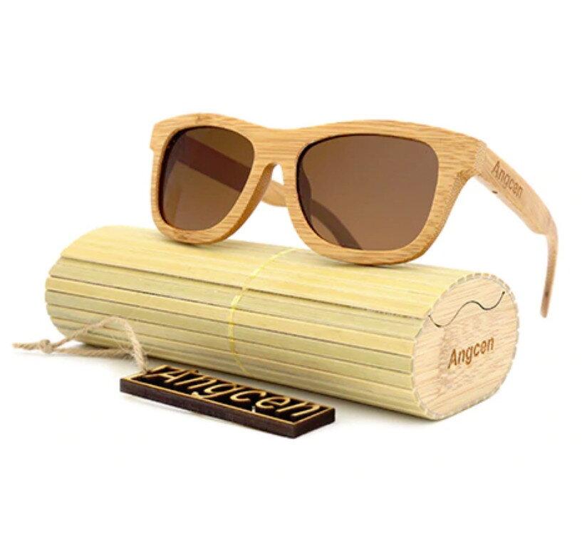 b5fd6f755 Drevené slnečné okuliare Angcen Brown