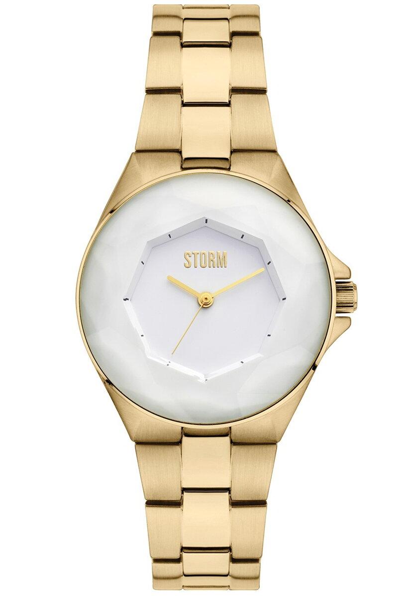 b95f8f4a8 Zlacené dámské hodinky Storm Crystana Gold