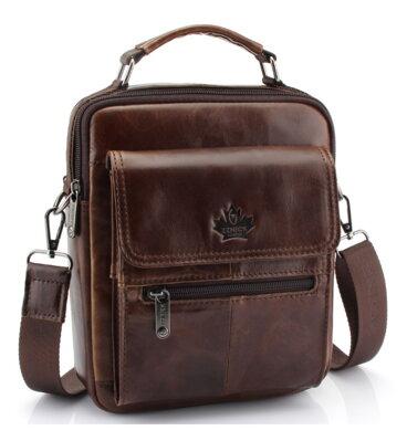 Kožená taška na rameno Zznick Brown be4867dbb62