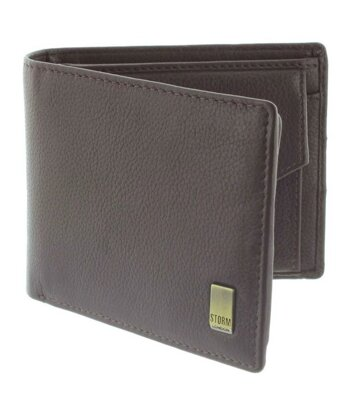 Peňaženka Storm Beckett Leather Wallet Brown