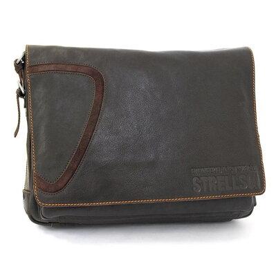 9e022cc7c1 Hneda kožená taška na rameno Strellson 2-11-01065