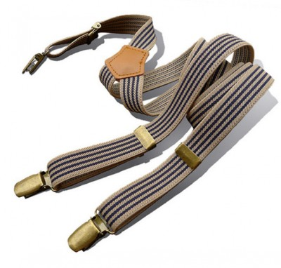 Traky Retro Striped Suspenders