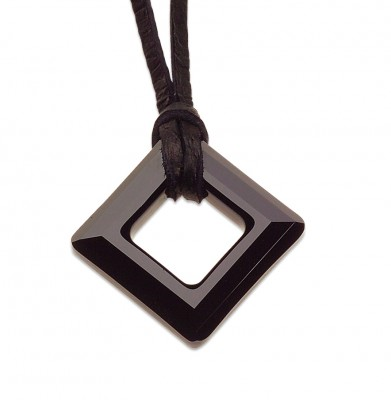 Swarovski SQUARE JET / BLACK 20x20 mm