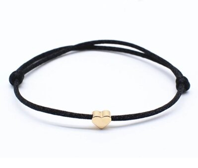 Náramok Golden Heart Black OA003
